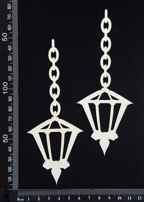Hanging Lamps - Large - White Chipboard