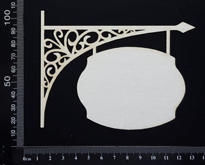 Hanging Sign - B - White Chipboard