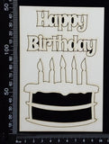 Happy Birthday Cake Set - White Chipboard