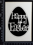 Happy Easter - A - White Chipboard