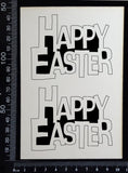 Happy Easter - C - Set of 2 - Small - White Chipboard