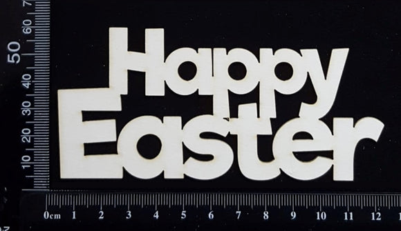 Happy Easter - D - White Chipboard