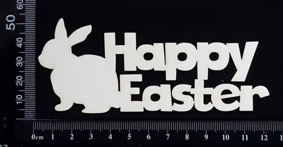 Happy Easter - E - White Chipboard