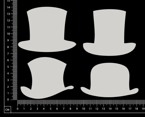 Hats Set - AA - Large - White Chipboard