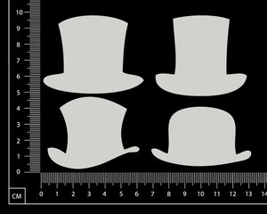 Hats Set - AB - Small - White Chipboard