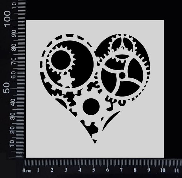 Heart of Gears - Stencil - 100mm x 100mm