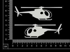 Helicopters - Small - White Chipboard