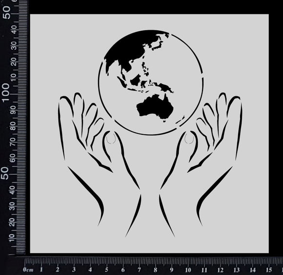 Holding the world - Stencil - 150mm x 150mm