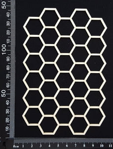 Honeycomb Mesh - A - White Chipboard