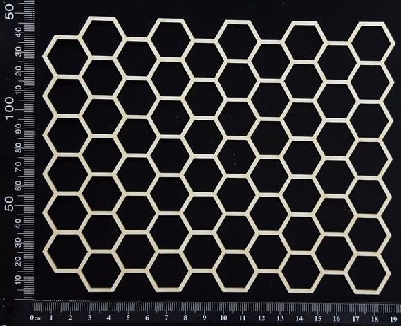 Honeycomb Mesh - B - White Chipboard