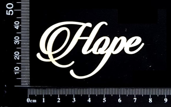 Sandscript Word - Hope - White Chipboard
