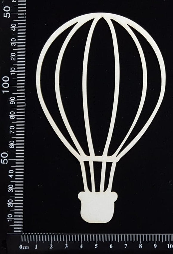 Hot Air Balloon - C - Large - White Chipboard
