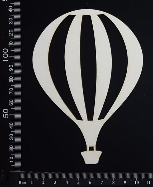 Hot Air Balloon - D - Large - White Chipboard