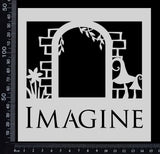 Imagine Arch - Stencil - 150mm x 150mm