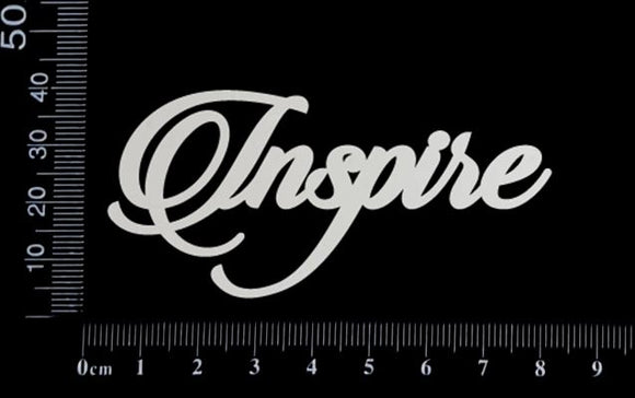 Sandscript Word - Inspire - White Chipboard