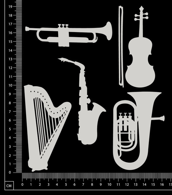 Instruments Set - A - White Chipboard