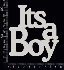It's a Boy - BA - Large - White Chipboard