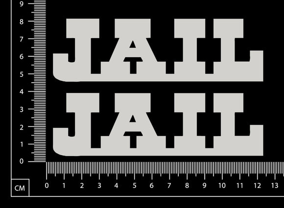 Jail - Set of 2 - A - White Chipboard