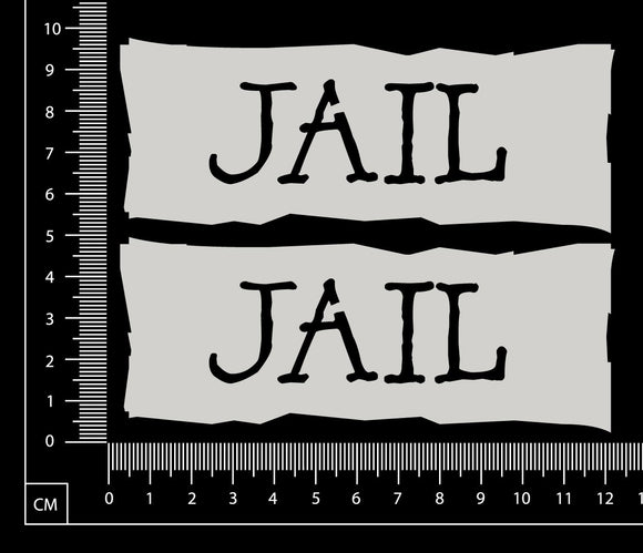 Jail - Set of 2 - B - White Chipboard