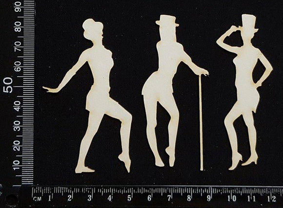 Jazz Dancers - A - White Chipboard