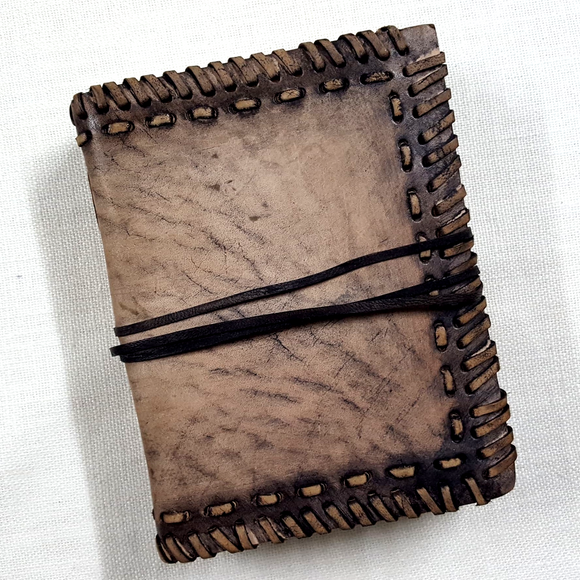 Leather Bound Stitched Journal