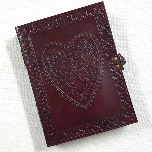 Leather Bound Celtic Heart Journal