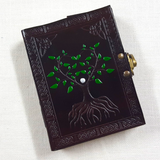 Leather Bound Brown Tree of Life Journal
