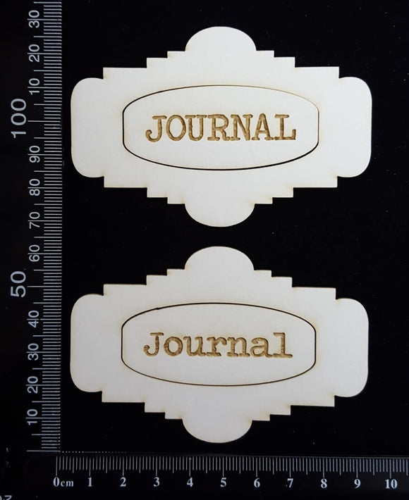 Journal Plates Set - A - White Chipboard