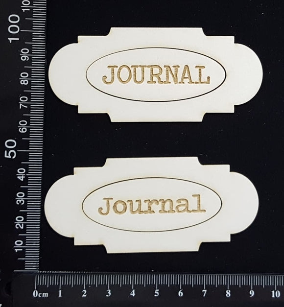 Journal Plates Set - B - White Chipboard