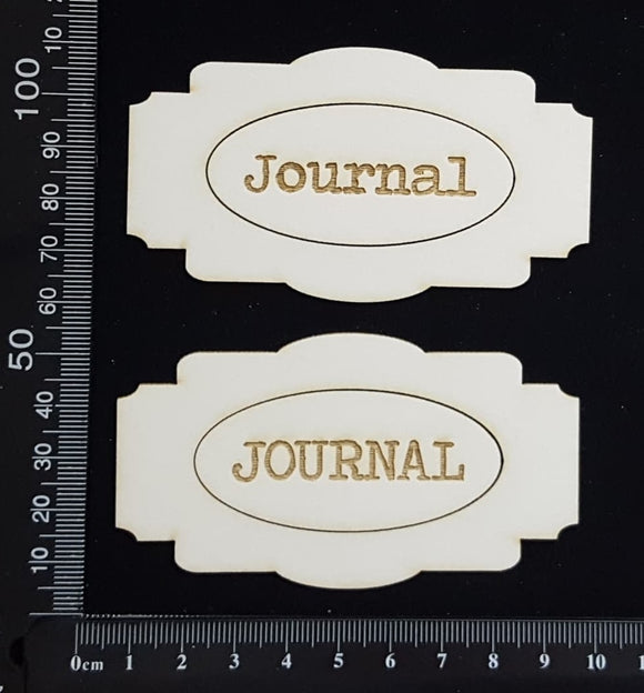 Journal Plates Set - C - White Chipboard