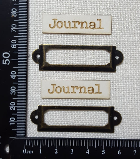 Metal Framed Book Plates - Journal - Bronze Tone