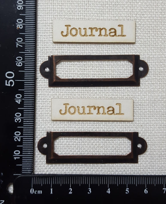 Metal Framed Book Plates - Journal - Copper Tone