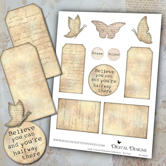 FREEBIE - Junk Journal Elements Collection - Set One - DI-10020 - Digital Download