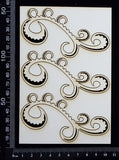 Kali Flourish Set - White Chipboard