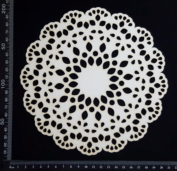 Lace Doily - Large - White Chipboard