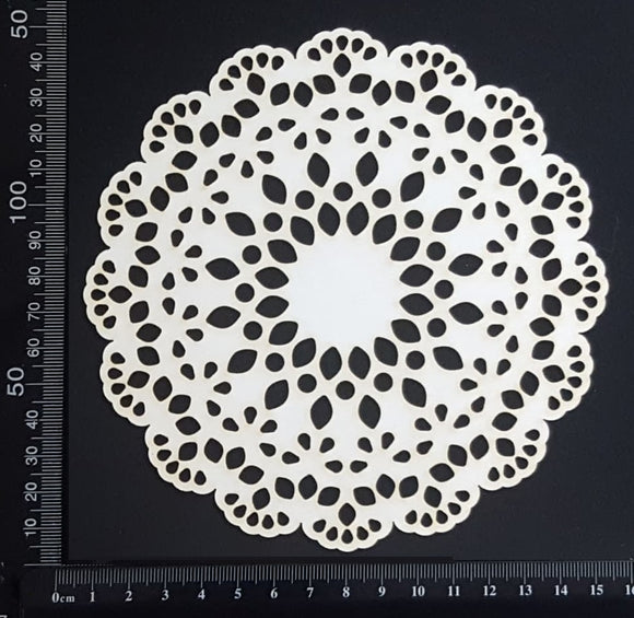 Lace Doily - Medium - White Chipboard