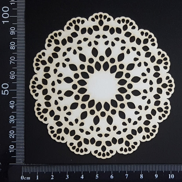 Lace Doily - Small - White Chipboard