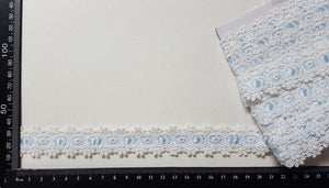 Lace Trim - Vintage - Blue Ribbon - (VL-4084)