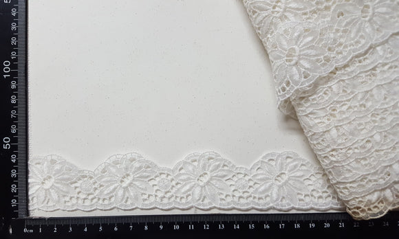 Lace Trim - Vintage - White - (VL-4077)