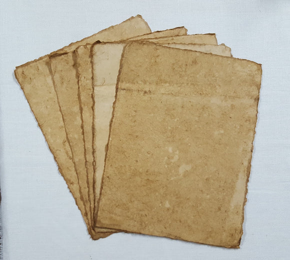 Handmade Deckled Edge Paper Pack - Set of  5 - 23cm x 31cm