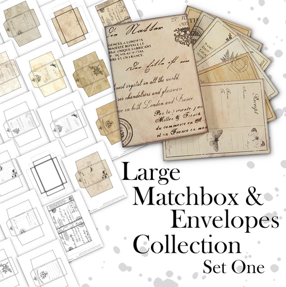 Large Matchbox & Envelopes Collection - Set One - DI-10039 - Digital Download