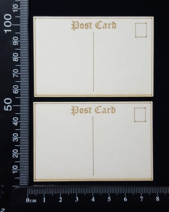 Laser Engraved Post Card Set - I - Mini - White Chipboard