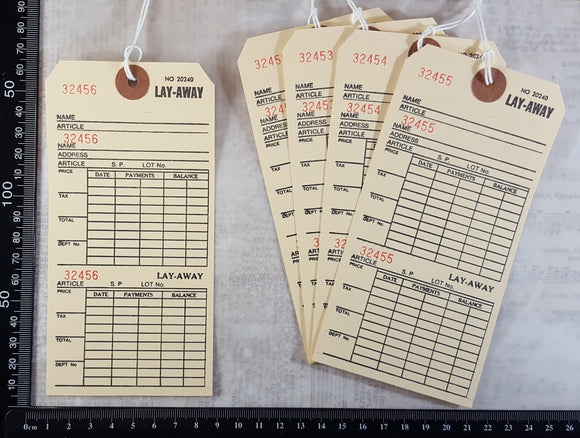 Lay-Away Tags Set