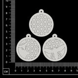 Layered Charms Set - AF - White Chipboard
