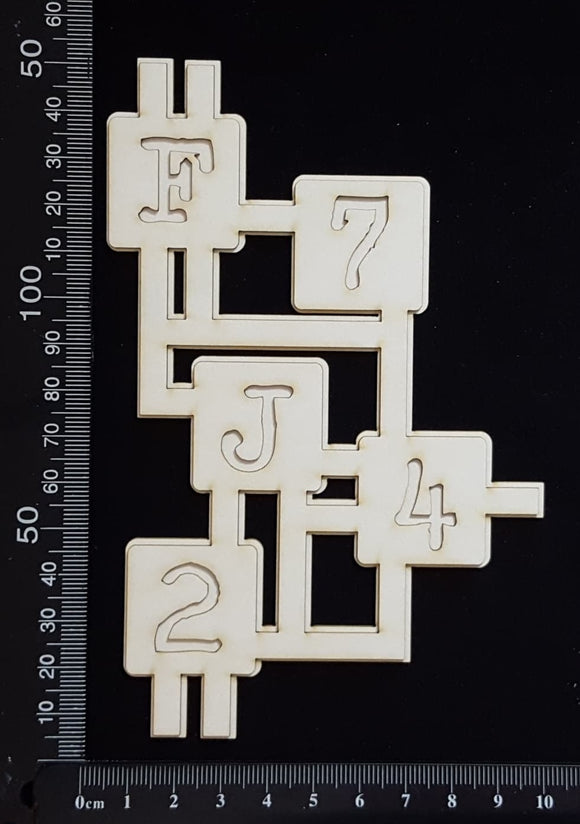 Circuit Fragment - AA - Large - Layering Set - White Chipboard