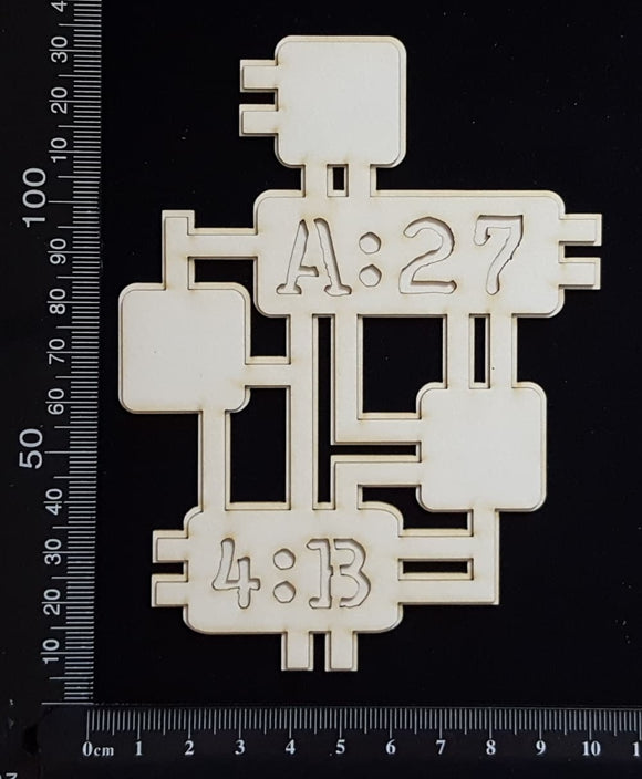 Circuit Fragment - BA - Large - Layering Set - White Chipboard