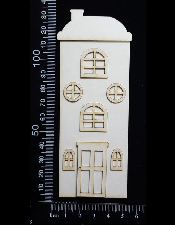 Layered House Set - F - Small - White Chipboard