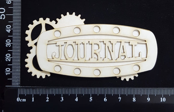 Steampunk Title Plate - EH - Journal - Layering Set - White Chipboard