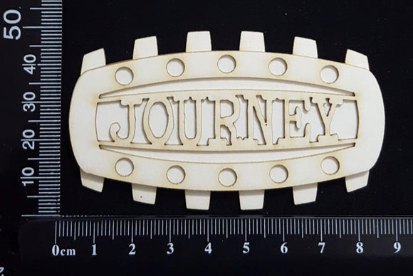 Steampunk Title Plate - EI - Journey - Layering Set - White Chipboard
