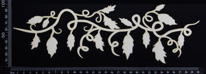 Leafy Vine Border - A - Large - White Chipboard